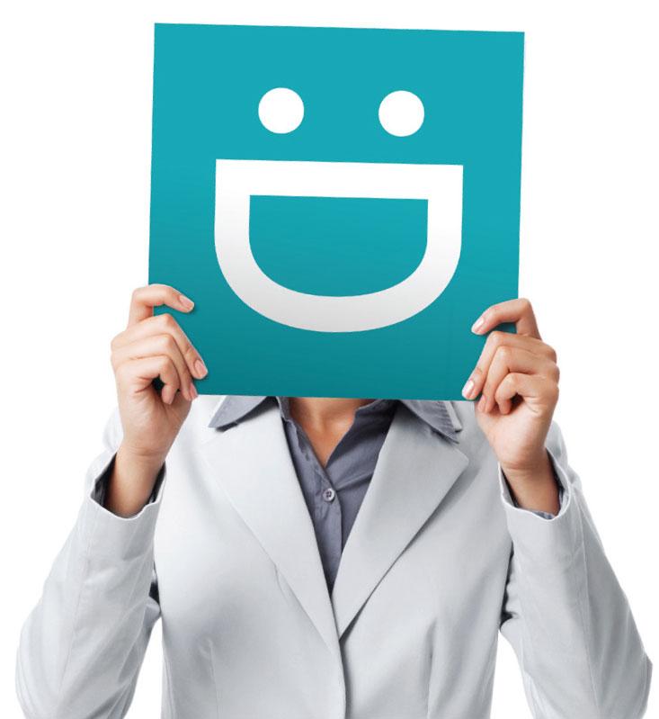 Holding emoji over face